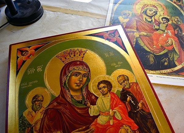 Изработка на икони и копия на художествени произведения и портрети